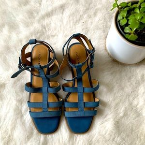 Lucky Brand Blue Strappy Heeled Sandals